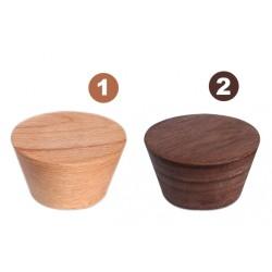 4 leuke kapstokhaken uit notenhout (type 2)