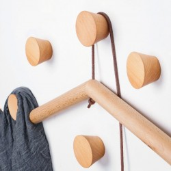 4 wooden clothes hooks, beech (type 1)