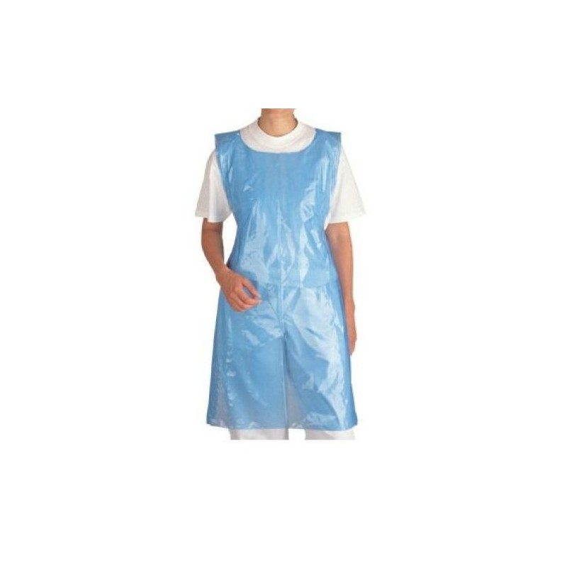 Disposable plastic apron blue