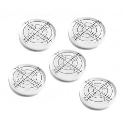 Set van 5 ronde waterpasjes, 32x7 mm wit