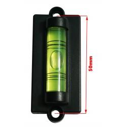 10 x waterpasonderdeel met schroefgaten (zwart)