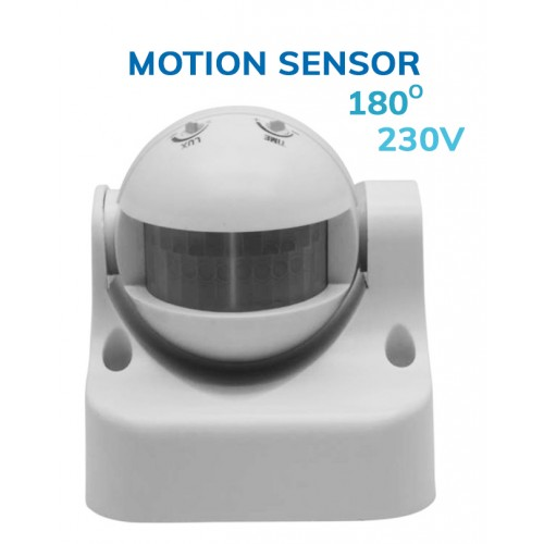Surface-mounted motion sensor (230v), white