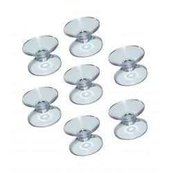 Transparenter Gummisaugers (100 stuck) doppelt (20 mm)