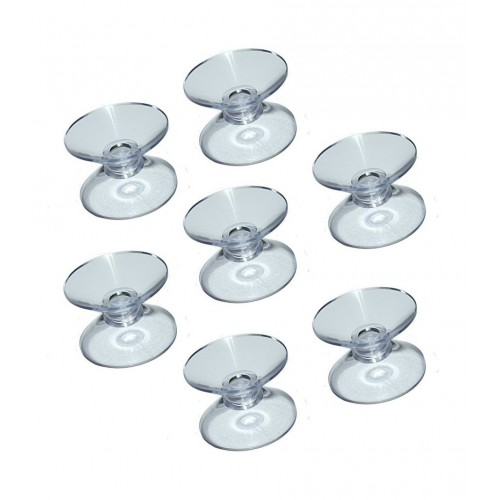 Set of 50 rubber suction cups double sided (20mm)