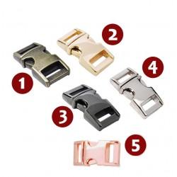 Mini metalen gesp, nr 1: 30x15mm, antiek