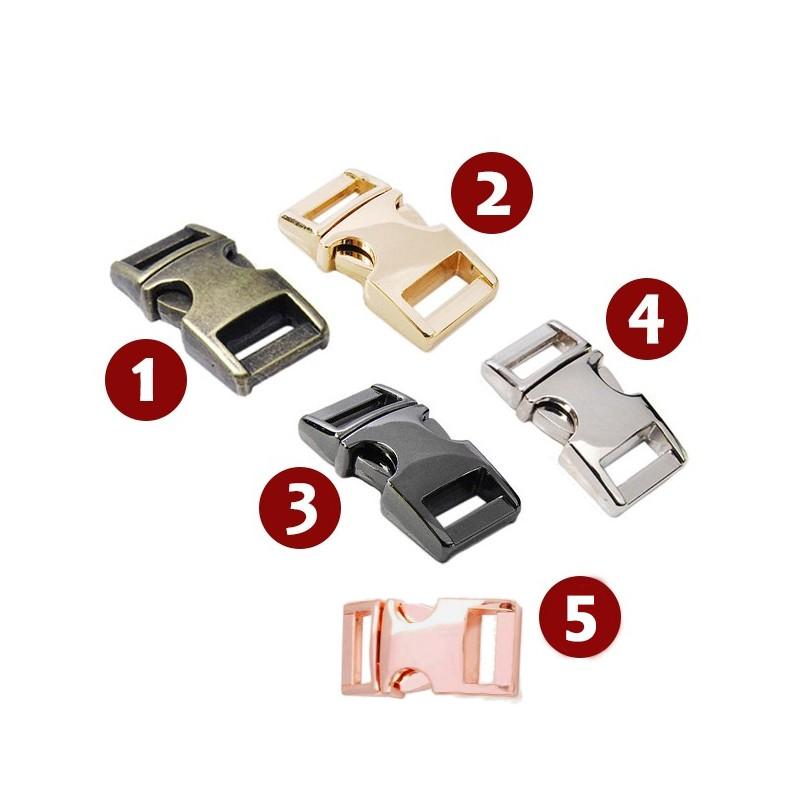 Mini metalen gesp, nr 3: 30x15mm, zwart