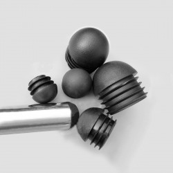 8 x ronde dop zwart voor stoel en tafel (inslag), 19 mm