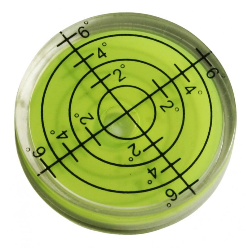 Ronde waterpas 32x7 mm groen