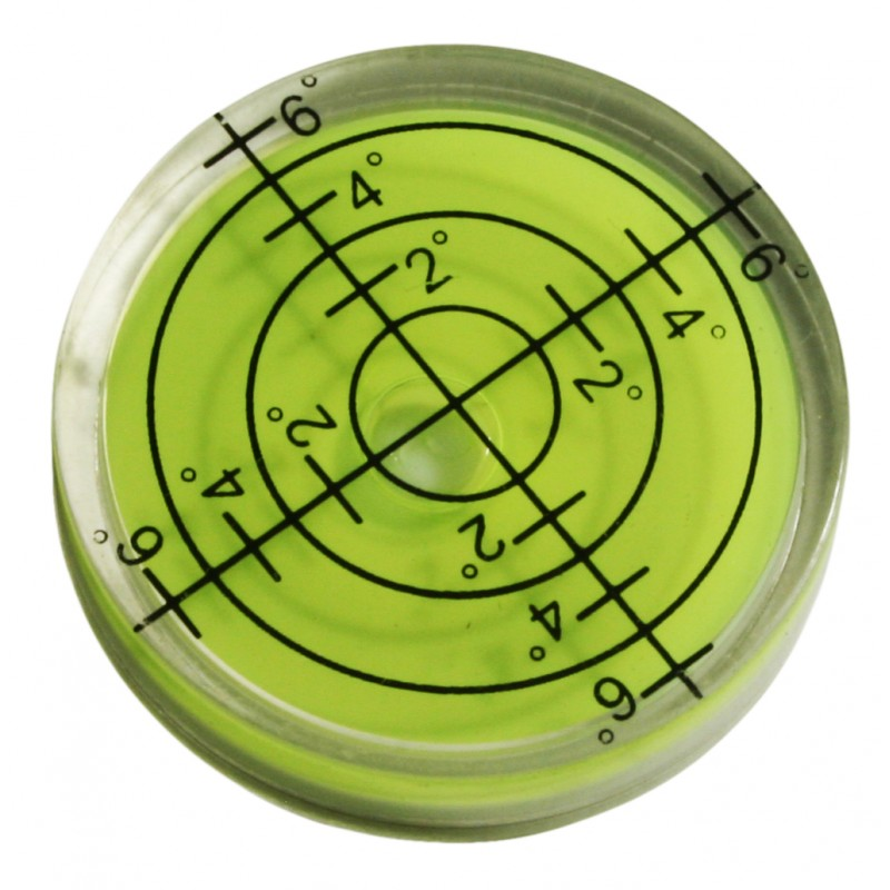 Round bubble level tool 32x7 mm green