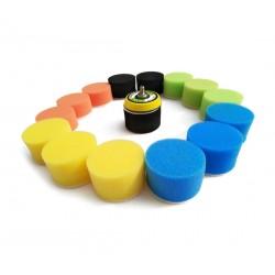 Set kleine sponzen (50mm) voor schoonmaak, met adapter