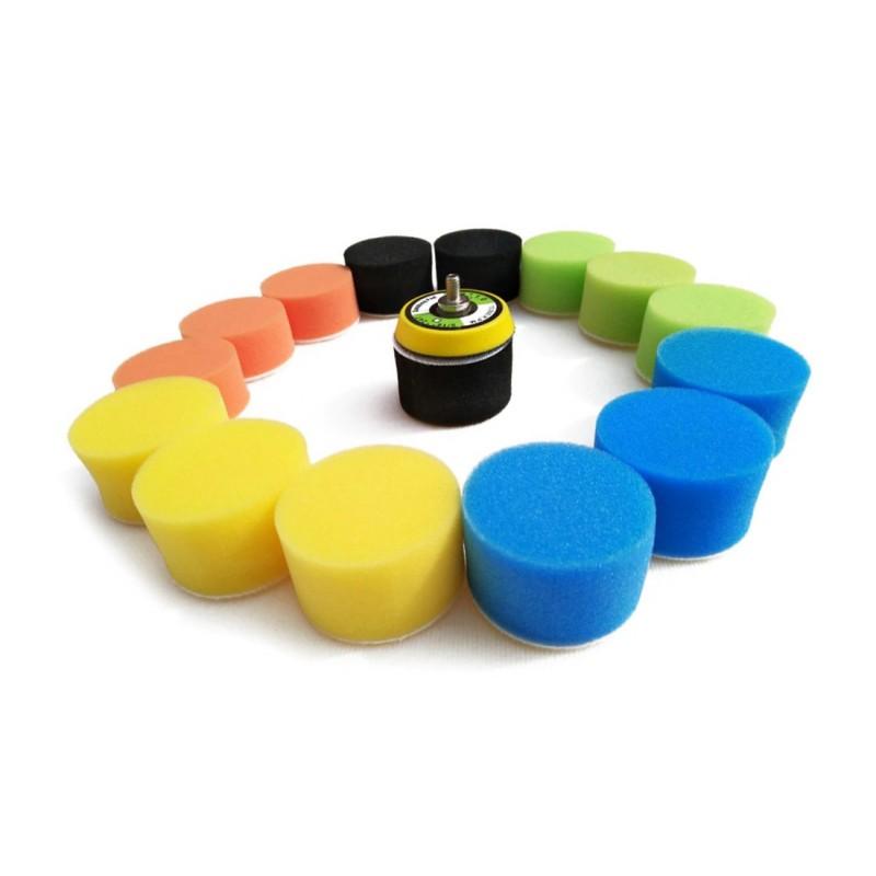 Polishing set (mini sponges) with adapter