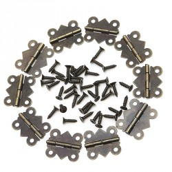 40 mini Metallscharnieren, Bronze farbe, 20x17mm
