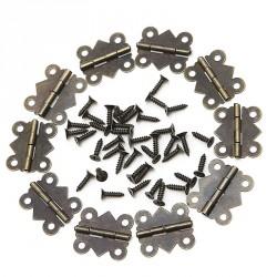 Set van 40 mini metalen scharnieren, bronskleurig, 20x17mm