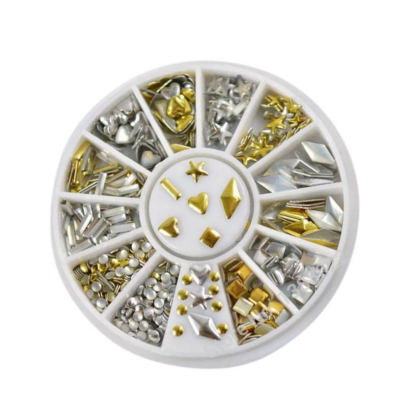 Deco diamond stones in a box (120 pcs, 6 types)