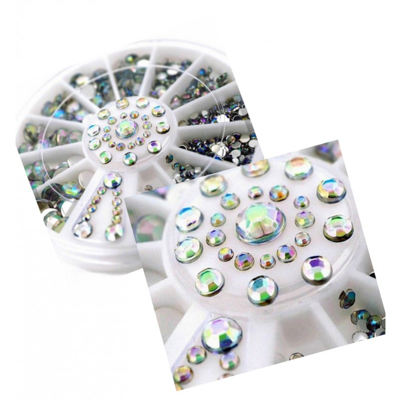 Decoratie steentjes in een doosje (diamantjes)