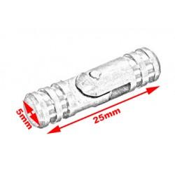 20 kleine (verborgen) scharniertjes 5*25 mm, zilver