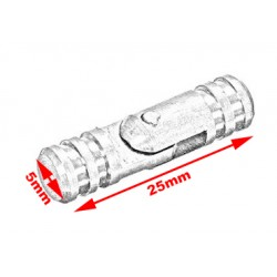 20 kleine (verdeckte) Scharniere 5*25 mm, silber