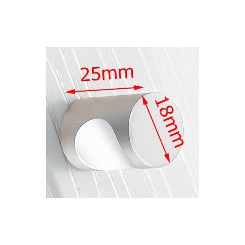 Zilver metalen knop 20x25mm