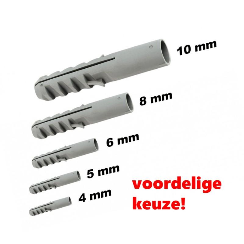 Set of 300 cheap nylon wall plugs, 6 mm