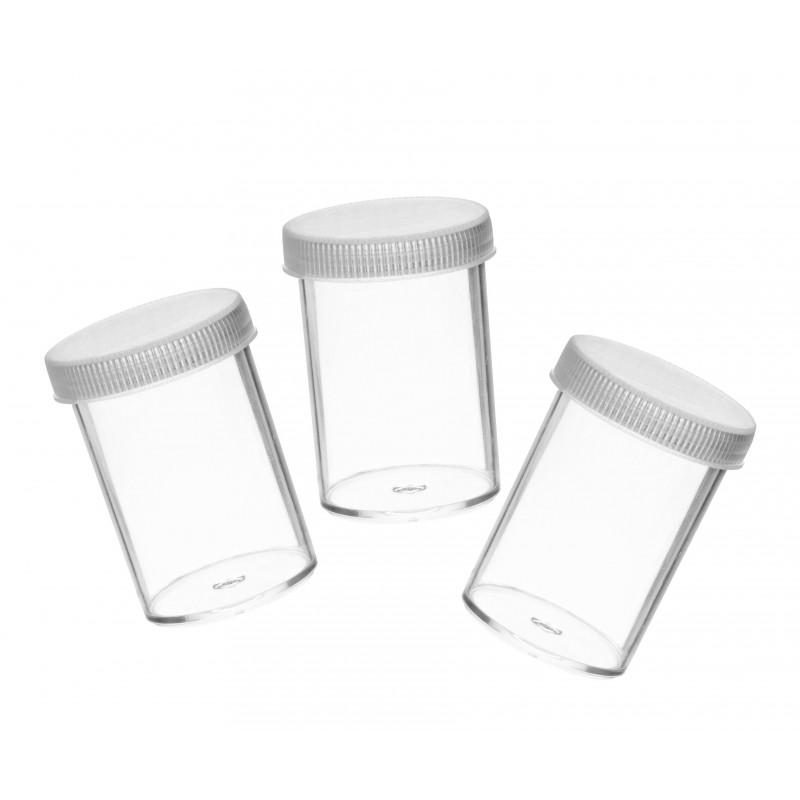 Kunststoffgefäß 20 ml, 30 stuck, mit Schraubverschluss