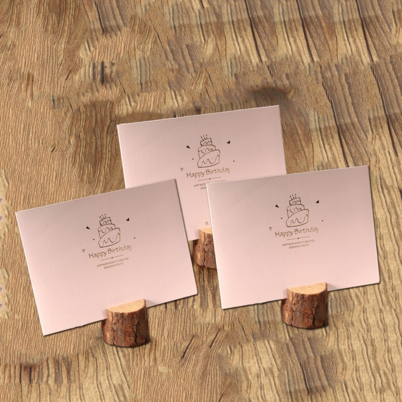 Set of stump photo holders, card holders (18 pieces)