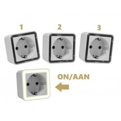 Set of 3 nightlight with light sensor (220 volts)