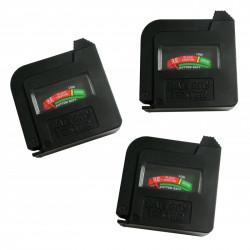3 x Batterijtester AA/AAA/C/D/9V/1.5V