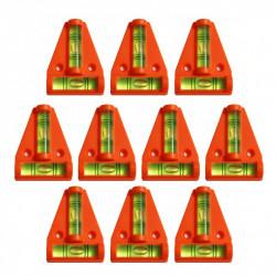 10 x kruiswaterpas met schroefgaten (oranje)