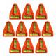 Kruiswaterpas met schroefgaten (oranje)