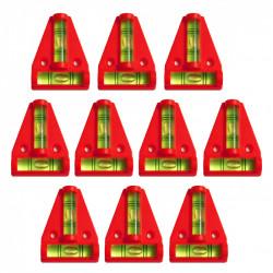 10 x Kruiswaterpas met schroefgaten (rood)