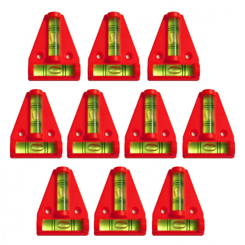 Kruiswaterpas met schroefgaten (rood)
