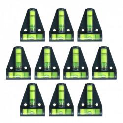10 x Kruiswaterpas met schroefgaten (zwart)