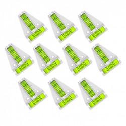 10 x Kruiswaterpas met schroefgaten (wit)