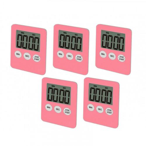 For the ladies: digital timer, alarm (pink color)