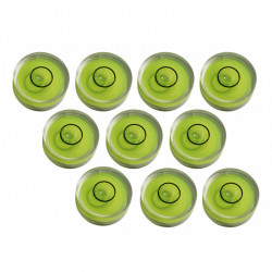10 x Mini round bubble level tool size 9