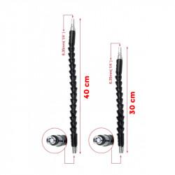 2 x flexibel verlengstuk voor hex bits, 30+40 cm