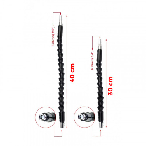Flexible hex bits extension, extra long! 40 cm