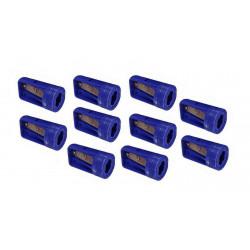 10 x Bleistiftspitzer für Zimmermannsbleistifte blau