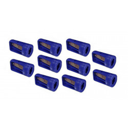 10 x carpenters pencil sharpener blue