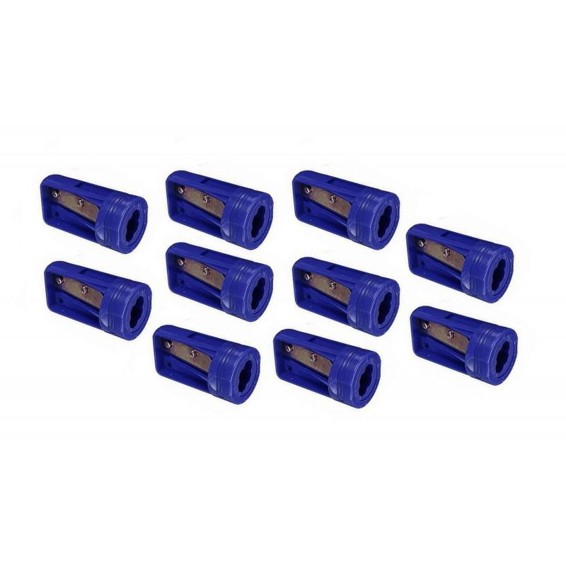 Carpenters pencil sharpener blue