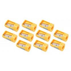 10 x carpenters pencil sharpener yellow