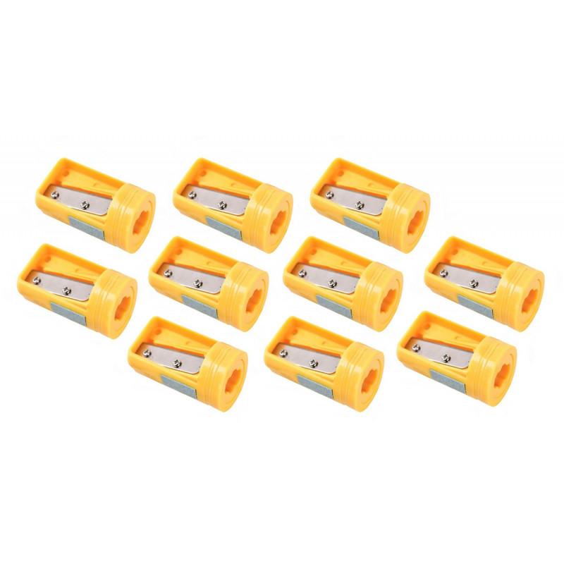 Spitzer für Zimmermannsbleistift gelb