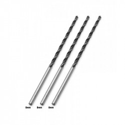 3 x Wood drill bit 8mm extreme length (300mm!)