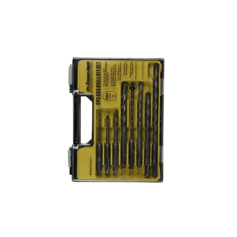 SDS-PLUS set concrete drills (8 pcs) in box
