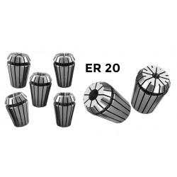 ER20 Spannzangeneingang 1 mm