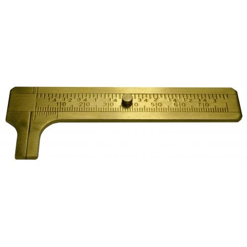 Mini-Schieblehre 80 mm Messing