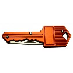 Mesje in sleutel voor sleutelbos (oranje)