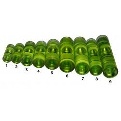 Libelle für Wasserwaage grün Größe 3