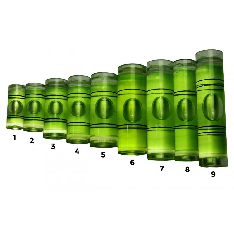 Libelle für Wasserwaage grün Größe 9