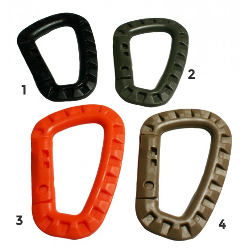 Carabiner plastic orange